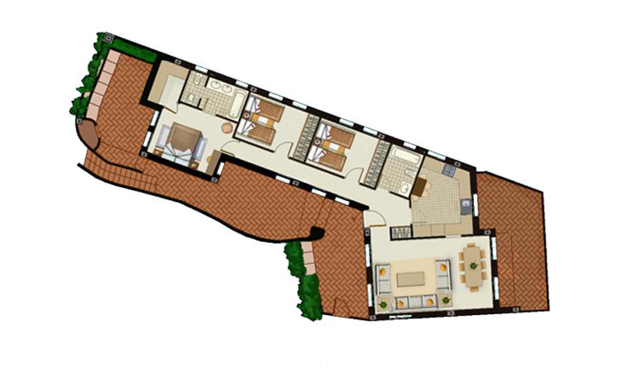 plano apartamento planta baja